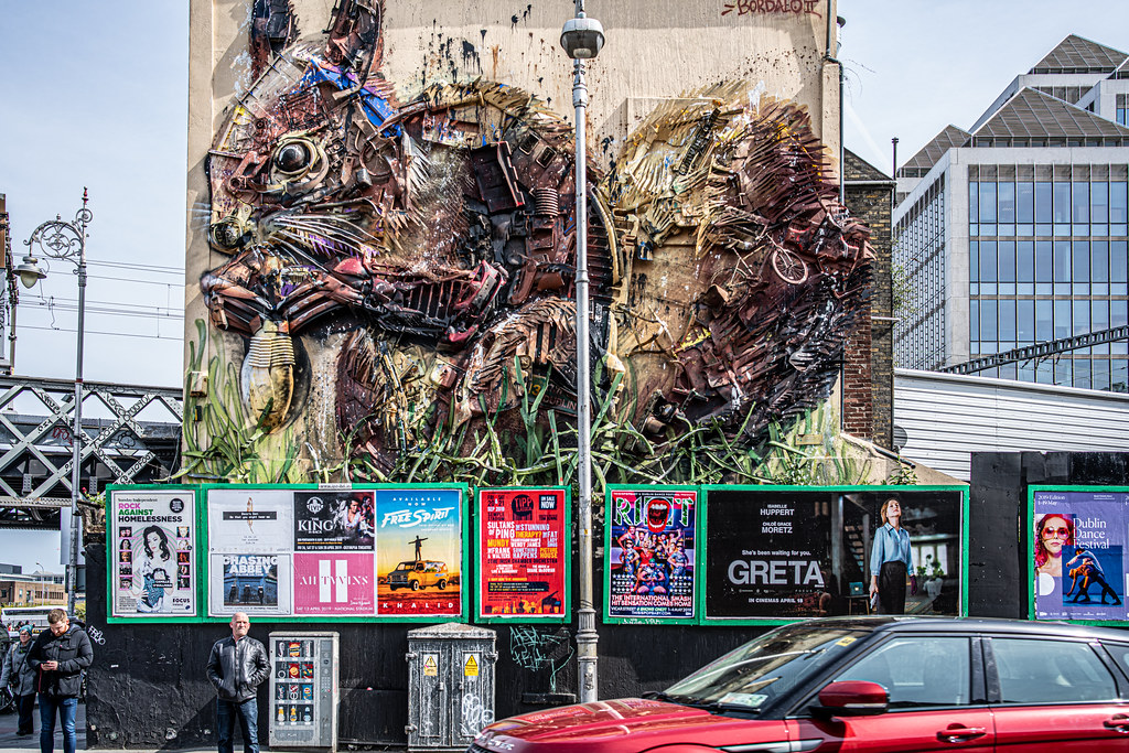 STREET ART BY BORDALO II - TARA STREET
