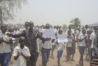 Kuajok's Mayen Gumel Primary School welcome head of UNMISS | by UNMISS MEDIA