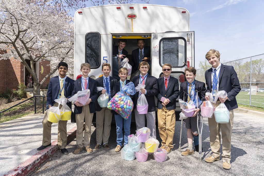 NJHS Students Deliver Easter Baskets