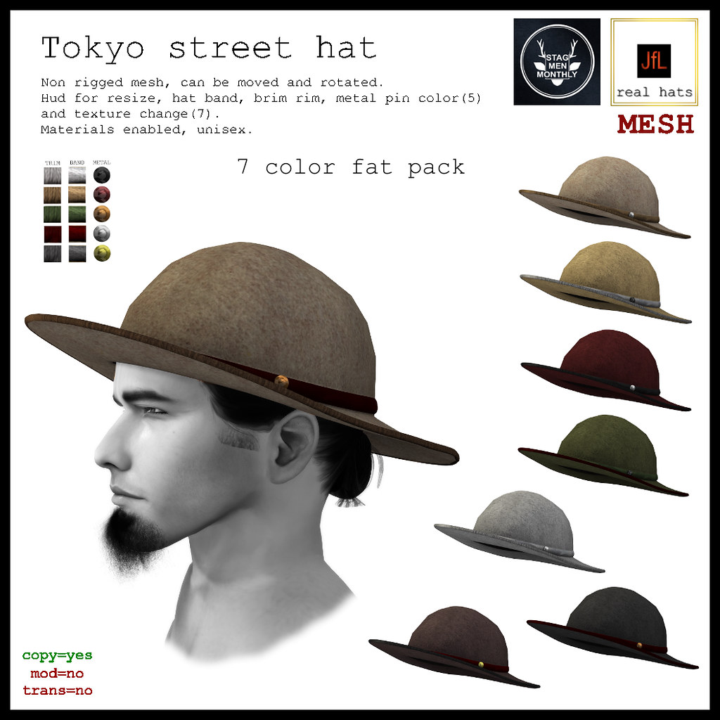 JfL Tokyo street hat fat pack