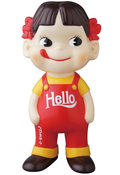 《不二家》牛奶妹Peko HELLO版本【抽選販售】!不二家ソフビコレクション ペコちゃん(HELLO)
