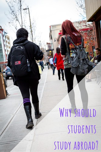 Why should students study abroad?