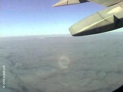glory seen below from an aircraft
