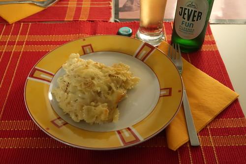Sauerkraut-Nudel-Käse-Auflauf (mein Teller)