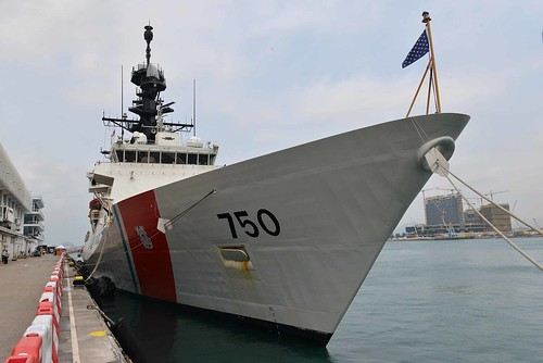 U.S. Coast Guard Cutter Bertholf arrives in Hong Kong during the cutter's Western Pacific deployment | by #PACOM