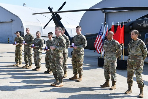 Gen Abrams recognized Soldiers for their actions in assisting their ROK neighbors fight wildfires | by #PACOM