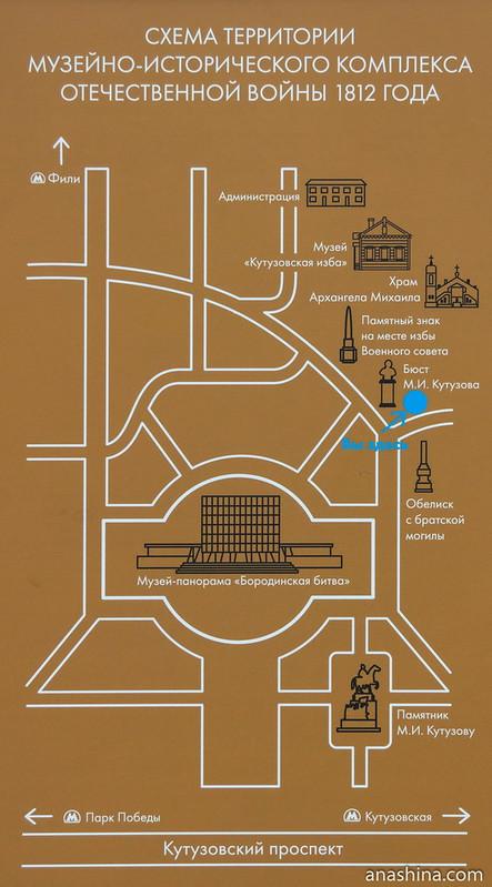 Схема музейно-исторического комплекса Отечественной войны 1812 года, Москва