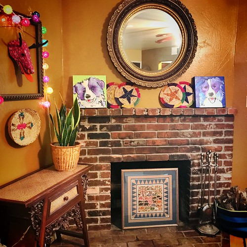 Art in the fireplace | by fennelgrl