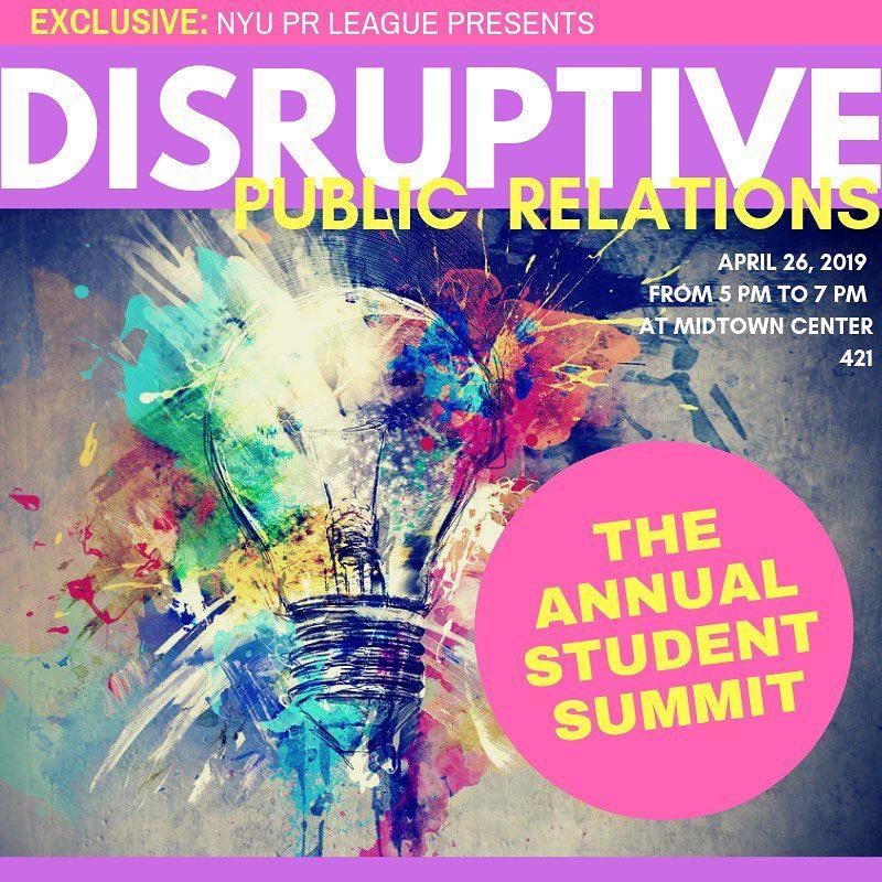 NYU Disruptive PR