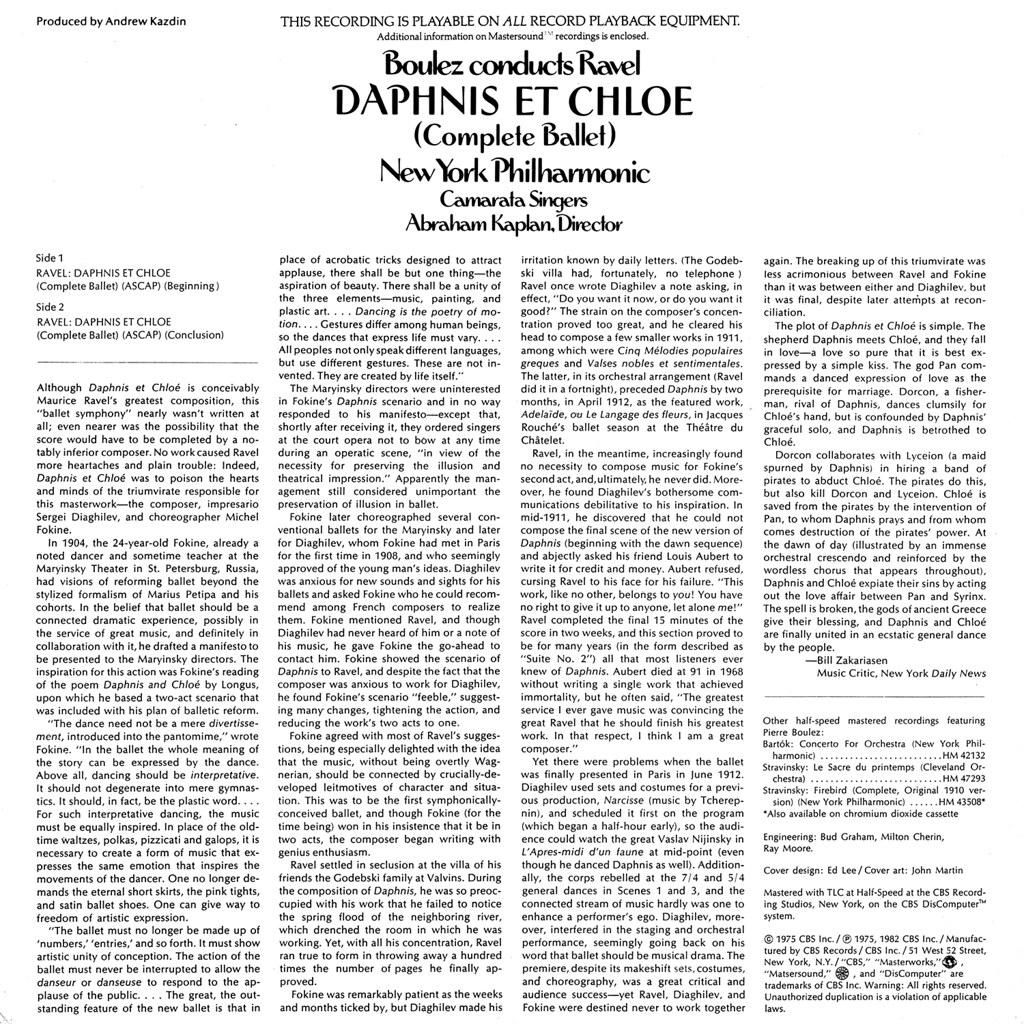 Maurice Ravel - Daphnis et Chloé