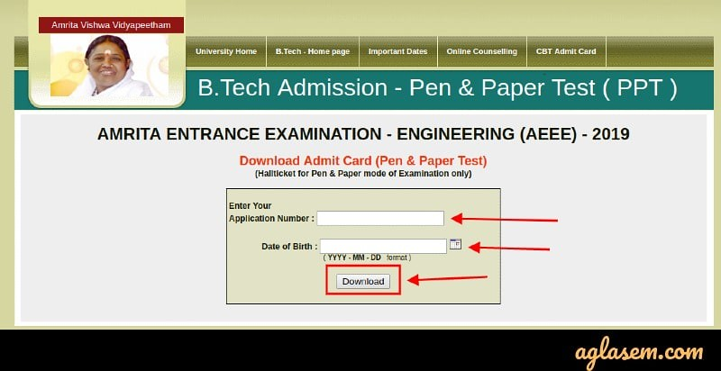 AEEE Admit Card Released for Pen-paper based test, Exam on 27 April 2019; Download Admit Card Here