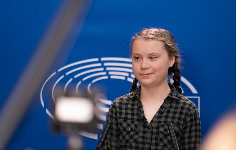 Greta Thunberg at the Parliament