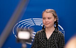 Greta Thunberg at the Parliament | by European Parliament