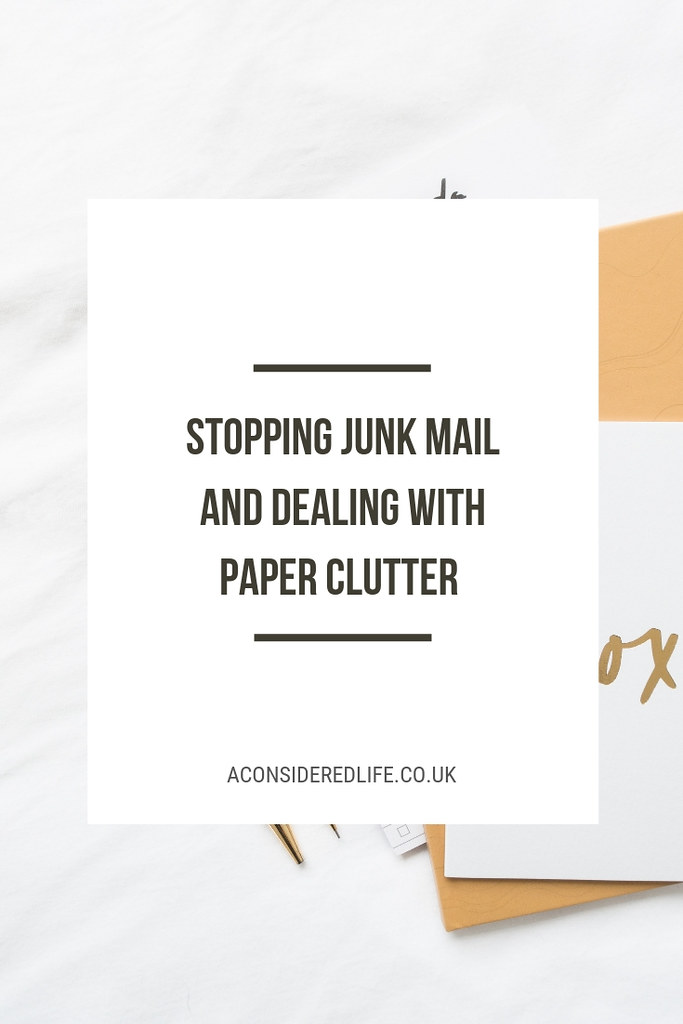 Stopping Junk Mail and Dealing With Paper Clutter