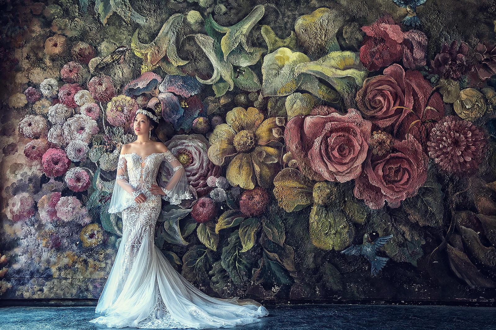 181024-0006-婚紗攝影-閨蜜婚紗-格林奇幻森林-攝影基地-白紗-韓風-油畫-花牆