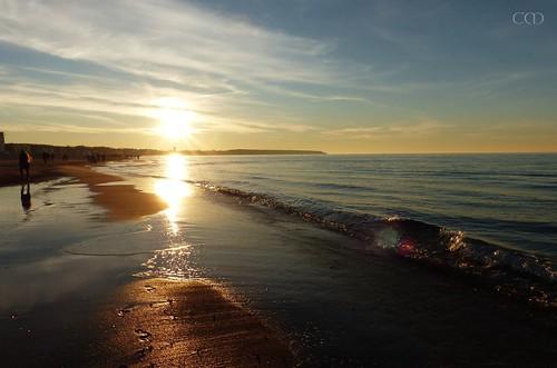 The sun sets...