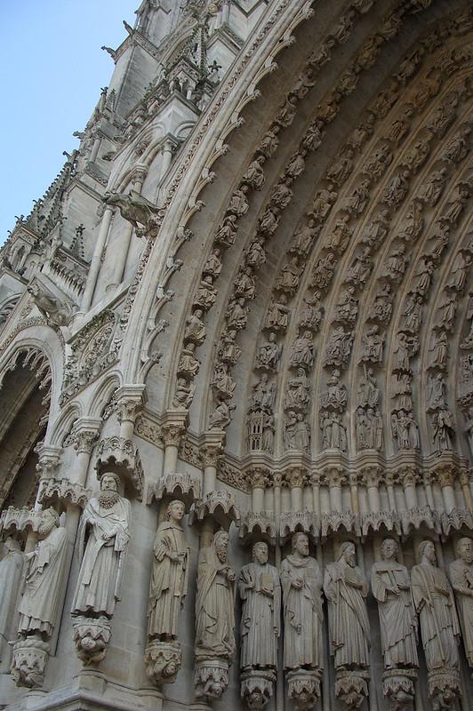 Фигуры святых, Амьенский собор, Амьен, Франция