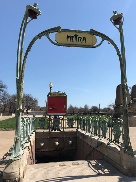 Unusual Metra entrance