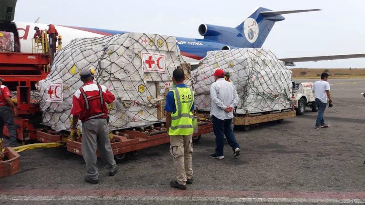 Arriba primer cargamento de Asistencia Técnica Humanitaria coordinada a través de la ONU y la Cruz Roja Internacional