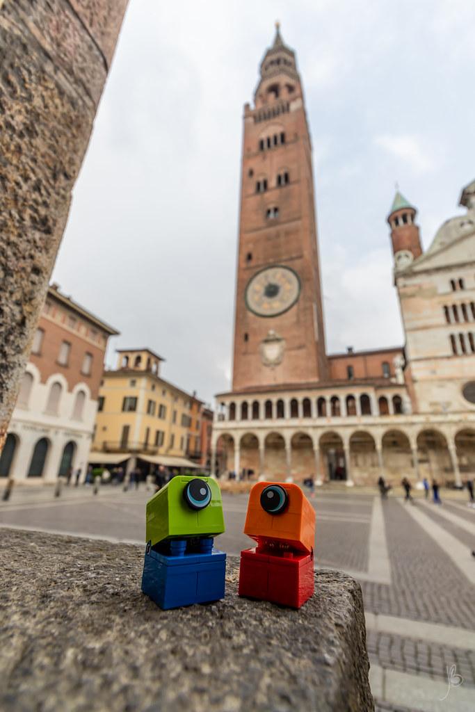 Look at the Torrazzo of Cremona, it's soooo tall