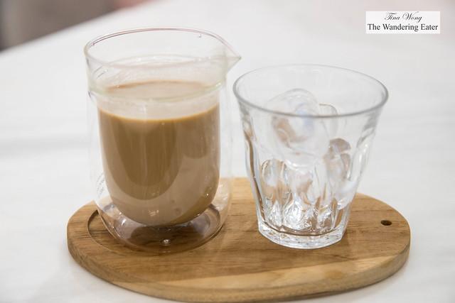 Cold brewed coffee milk