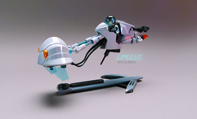 Effortlessly graceful speederbike | The Brothers Brick