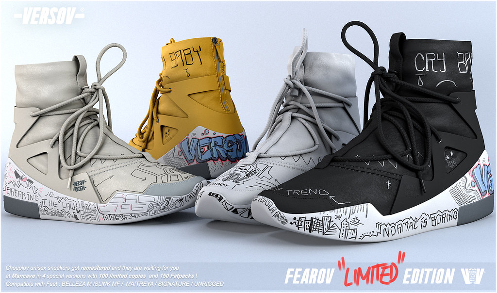 Versov // ] Fearov LIMITED EDITION sneakers available at ManCave