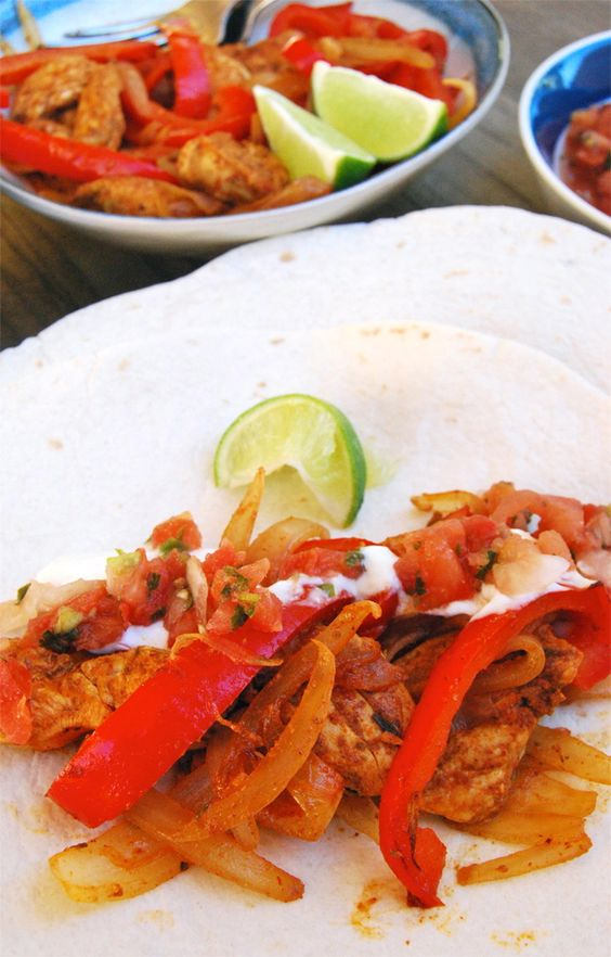 Homemade Chicken Fajitas