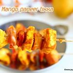 Mango paneer tikka in oven