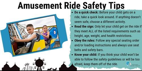Amusement Ride Safety Tips (Kids on Ride)  - Twitter   by preventchildinjury