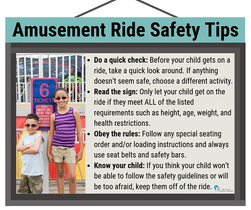 Amusement Ride Safety Tips (Kids by Sign) - Facebook | by preventchildinjury