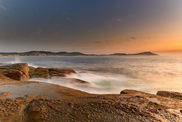Rock Platform Dawn Seascape