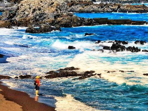 Mar agitado en la Playa de los Cancajos