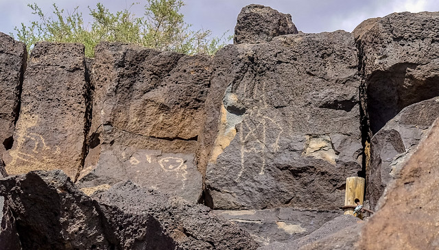Petroglyphs on the Mesa Point Trail in Petroglyph National Monument, Albuquerque, New Mexico