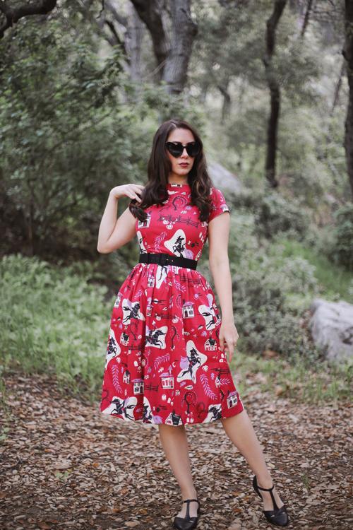 Kitschy Witch Designs Sleepy Hollow Print Pixie Dress