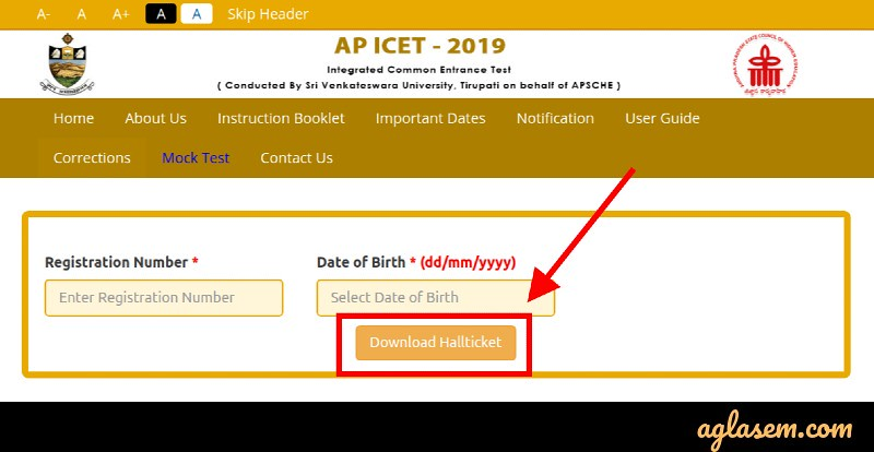 AP ICET 2019 Admit Card (Available) - Download Hall Ticket Here