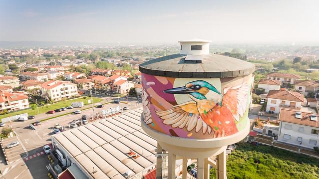 Rainbow: svelato il murales a San Romano