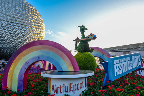 Figment front of Epcot Festival of Arts | by gamecrew7