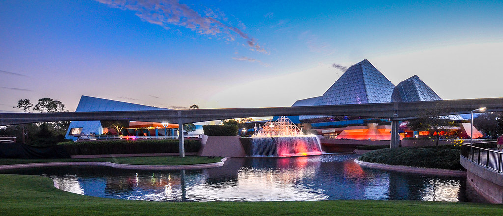 Imagination sunset Epcot