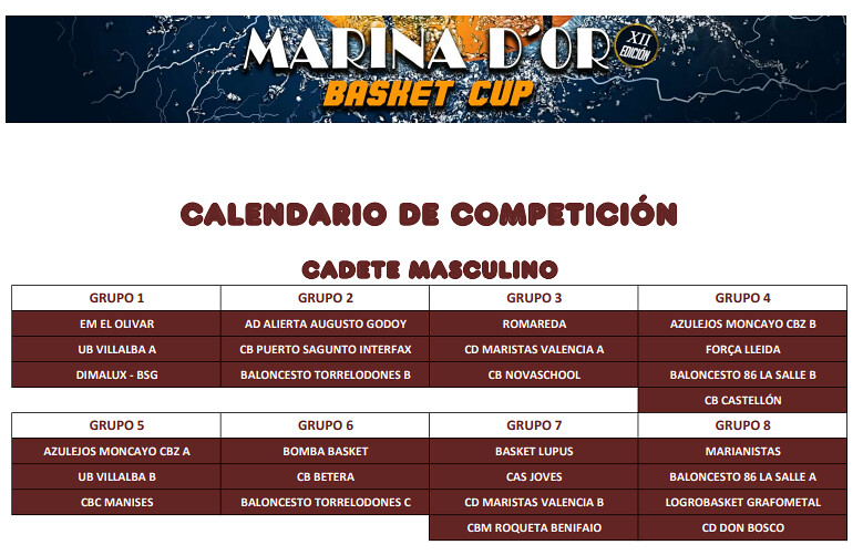 MarinaDoor calendario cadete