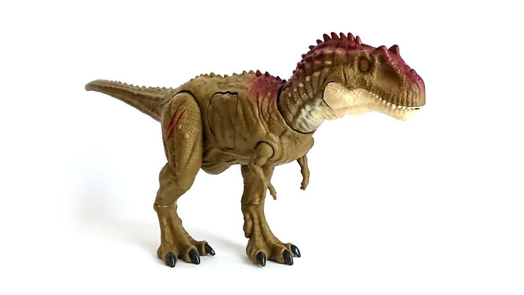 Jurassic World Battle Damage Albertosaurus Dinosaur Figurine Mattel