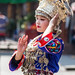Young lady in Miao traditional costume