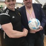 Man of the Match Craig Reid with MOM Sponsor Allan Henderson
