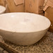 Oval polished stone sink E215