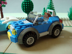 Lego Hillside House car