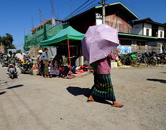 In the centre of Nyaungshwe, Myanmar