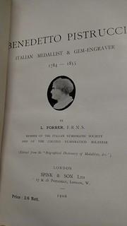 Benedetto Pistrucci book title page