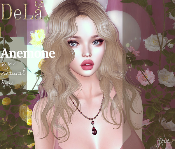 "=DeLa*= new hair ""Anemone"""