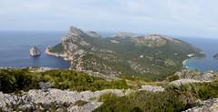 Formentor (Mallorca-España). Bahía de Pollensa Cabo de Formentor visto desde el acceso a la Talaia d´Albercutx