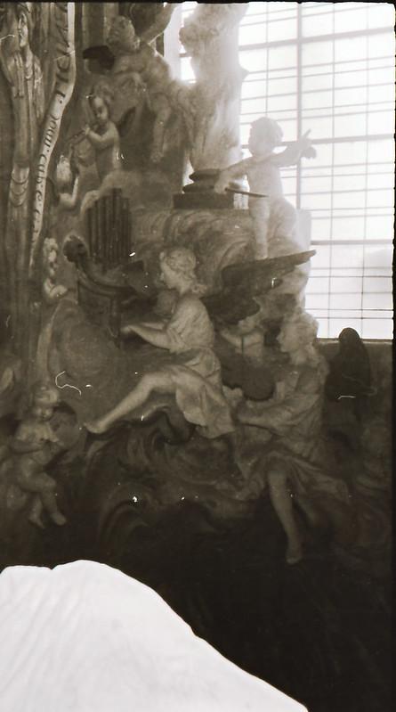 Detalles del Transparente. Vista tomada desde las zonas superiores de la catedral en los años 60. Fotografía de Victoriano de Tena Sardón